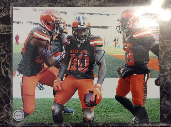 """Odell Beckham Jr./Jarvis Landry """"Cleveland Browns"""" Dual Autographed 8+10 Photo with Certified COA"""