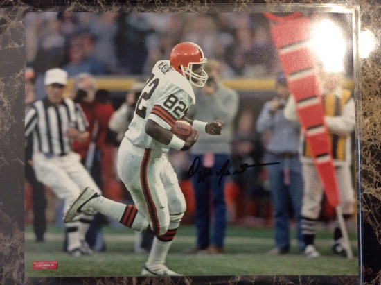 """Ozzie Newsome """"Cleveland Browns HOFer"""" Autographed 8+10 Photo with Certified COA"""