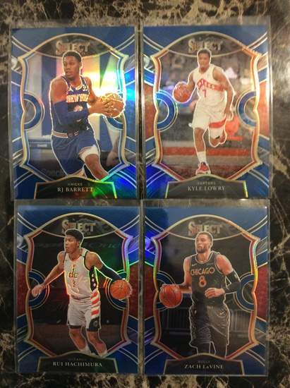 "2021 Select Basketball ""Blue Prizm Lot"" RJ Barrett, Rui, Lowry & LaVine"