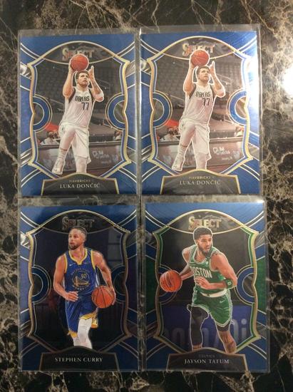 "2021 Select Basketball ""Blue Prizm Lot"" Luka Doncic, Stephen Curry, Jayson Tatum"