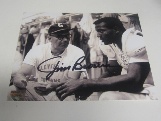 Jim Brown signed 8x10 photo certified coa