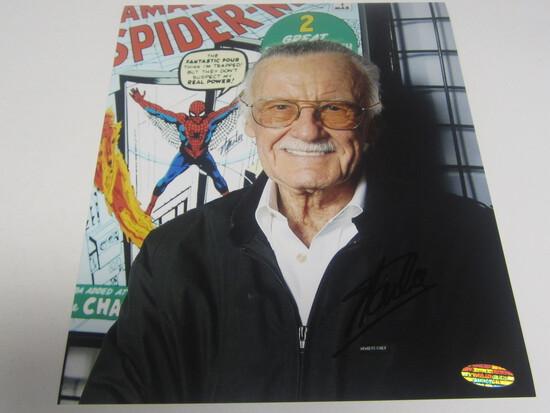 Stan Lee signed 8x10 photo certified coa