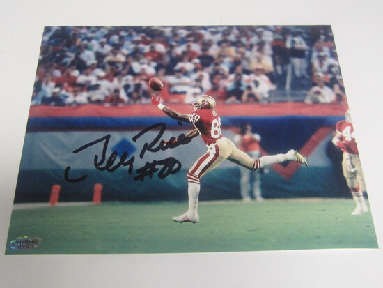 Jerry Rice Signed 8x10 photo certified coa