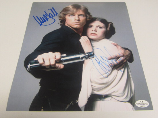 Mark Hamill Carrie Fischer signed 8x10 photo certified coa