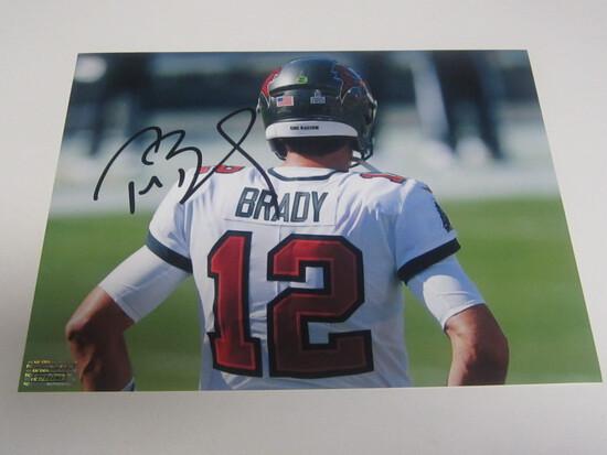Tom Brady signed 8x10 photo certified coa