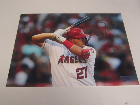 Mike Trout signed 8x10 photo certified coa