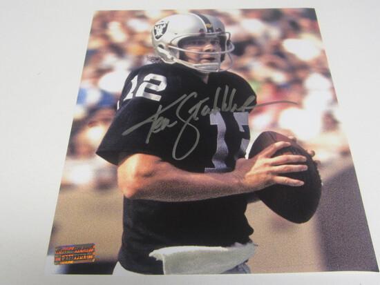 Ken Stabbler signed 8x10 photo certified coa