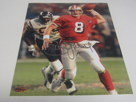 Steve Young sisgned 8x10 photo certified coa