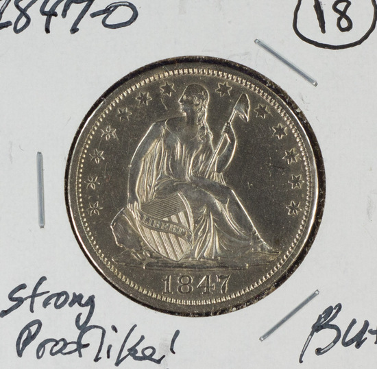 1847-O Seated Liberty Half Dollar Prooflike