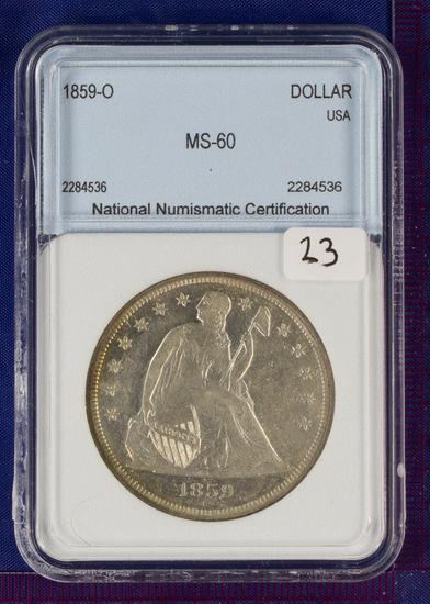 1859-O Seated Liberty Dollar