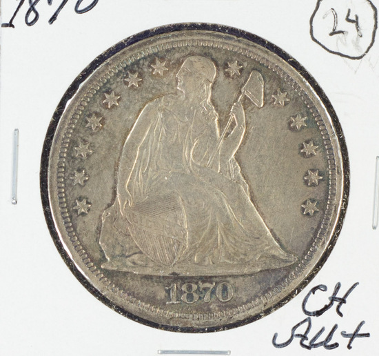 1870 Seated Liberty Dollar