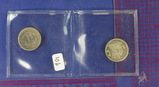 2 COINS: 1854 and 1845 Seated Liberty Dimes- 1845 is Love Token