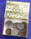 Lot of 18 cull and low grade type coins.
