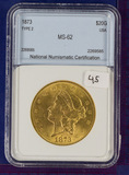 1873 Ty 2 Liberty Double Eagle GOLD