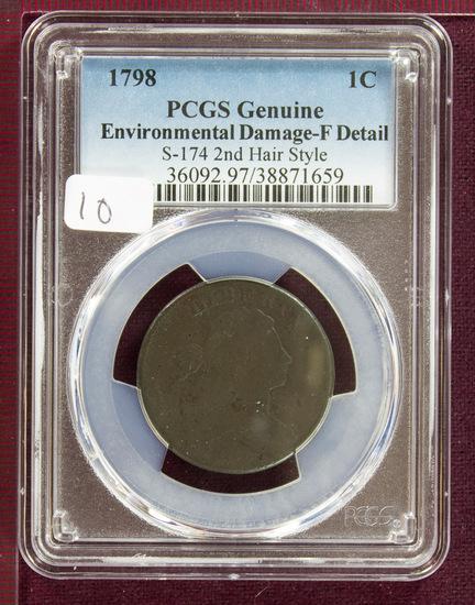 1798 Draped Bust Large Cent S-174 PCGS Fine Details