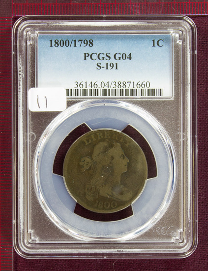 1800/1798 Draped Bust Large Cent S-191 PCGS G04