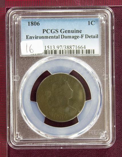 1806 Draped Bust Large Cent PCGS Fine Details