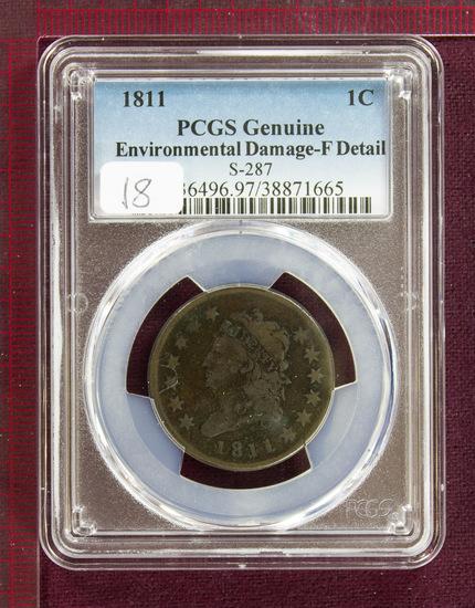 1811 Classic Head Large Cent S-287 PCGS Fine Details