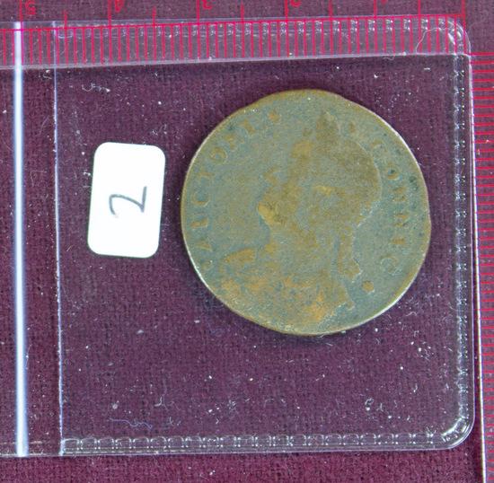 Connecticut 1787 Cent Mailed Bust Left
