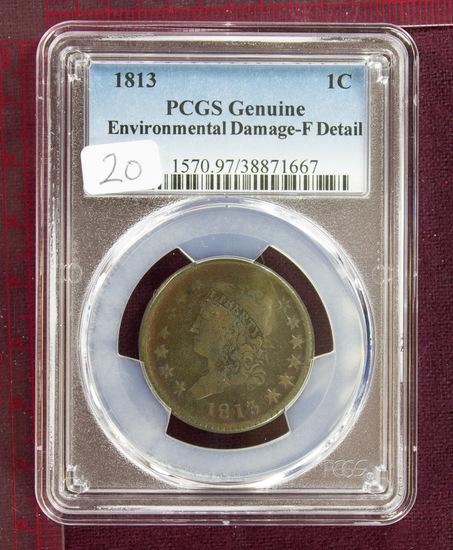 1813 Classic Head Large Cent PCGS Fine Details