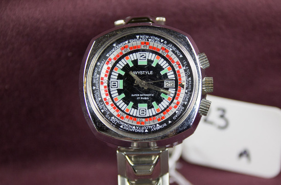 Avystyle World Time Wristwatch with Date