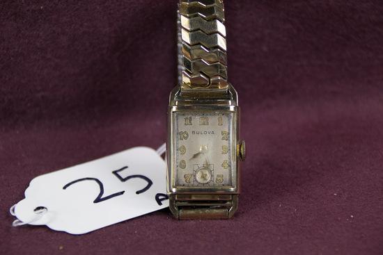 Bulova  Wristwatch 21jw ROSE GF case and bracelet