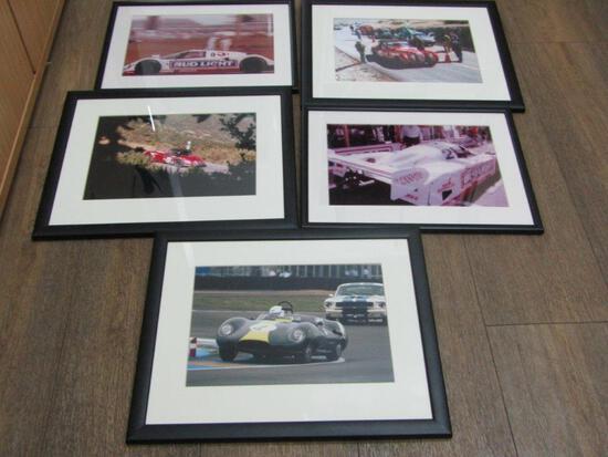 5 Framed Motorsport Photographs