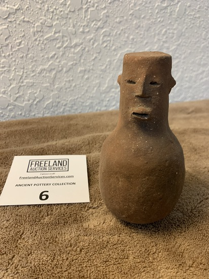 Effigy Human Pottery Vessel Appears To Be Male Figure
