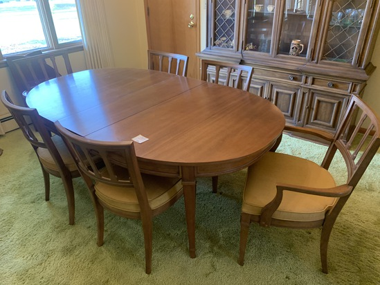 Drexel Super Nice Mid-century Dining Room Table With 6 Chairs