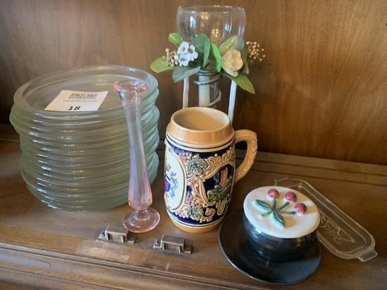 Group Of Misc Glassware And German Stein