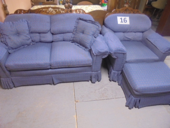 Loveseat, Chair and Ottoman
