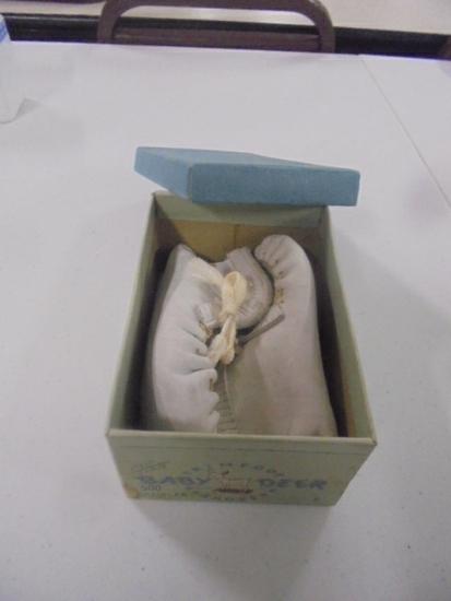 Vintage Deer Skin Baby Shoes