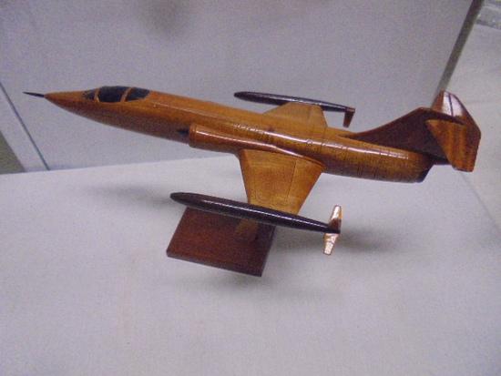 Solid Mahogany F-104 Starfighter Jet
