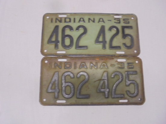 Pair of 1935 License Plates