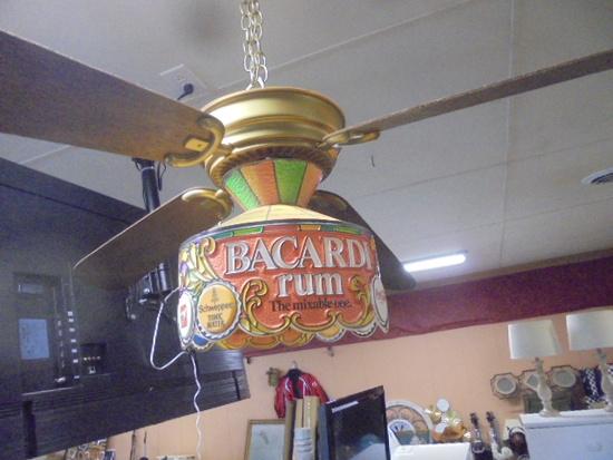 Vintage Bacardi Advetisment Light/Fan