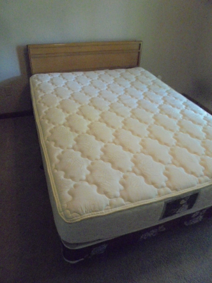 Queen Size Bed w/ Like New Wolf No Flip Mattress
