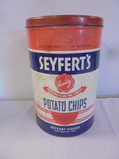 Vintage Seyferts Potato Chip Can