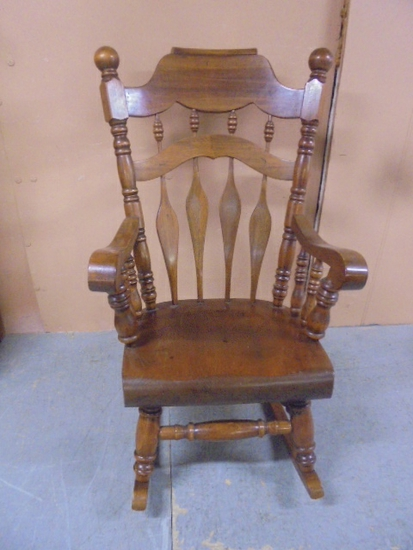 Heavy Built Wooden Rocking Chair