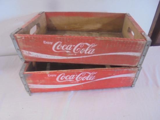 2 Vintage Wooden Coca-Cola Crates