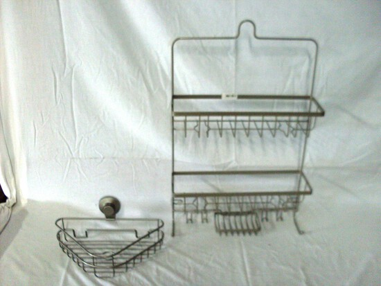 Two piece shower racks