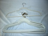 Set of 10 Cloth covered Hangers