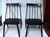 Pair of metal stackable chairs
