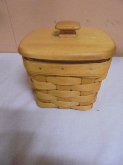 1997 Longaberger Basket w/Lid and Protector