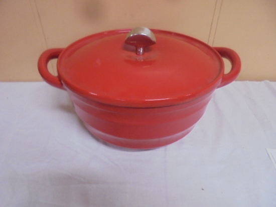Dash of That Porcelain Over Cast Iron Dutch Oven w/Lid