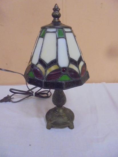Leaded Glass Shade Lamp