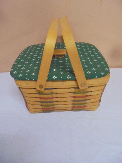 1996 Longaberger Basket w/Lid and Protector