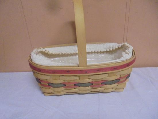 1994 Longaberger Basket w/Liner and Protector