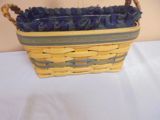 1997 Longaberger Collectors Club Basket w/Liner and Protector