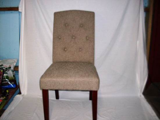 Tan Tufted Accent Chair