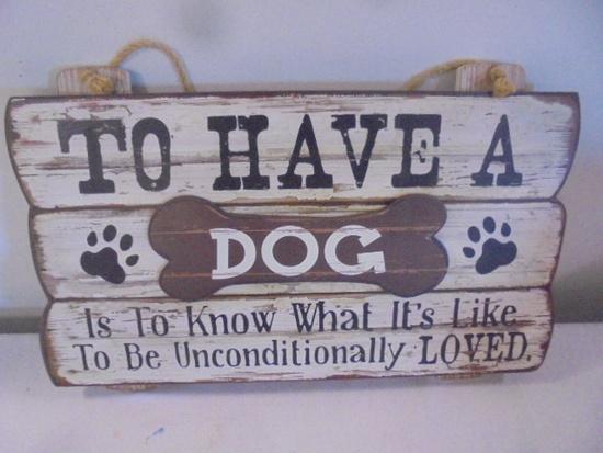 Wooden Dog Sign